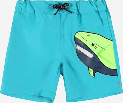 Pantaloncini da bagno NAME IT di colore azzurro / blu scuro / verde, Visualizzazione prodotti