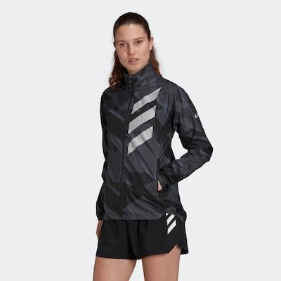 adidas Terrex Jacke 'TERREX Parley Agravic' in grau / schwarz: Frontalansicht