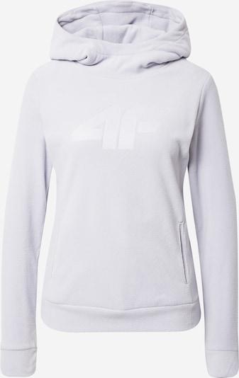 4F Sportpullover in hellgrau / weiß, Produktansicht