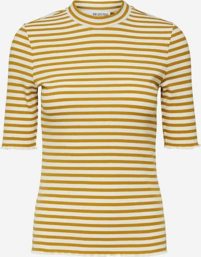 SELECTED FEMME Shirt in de kleur Mosterd / Wit, Productweergave