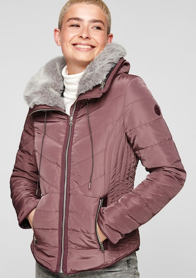 Q/S by s.Oliver Jacke in lila, Produktansicht