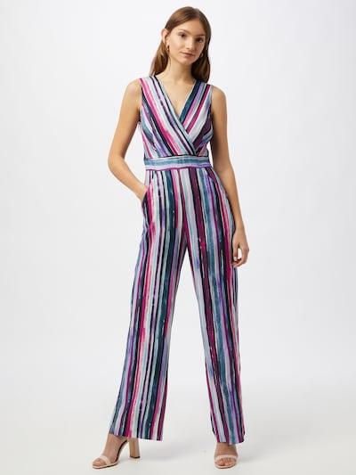Tuta jumpsuit Closet London di colore smeraldo / lilla / magenta / nero / bianco, Visualizzazione modelli