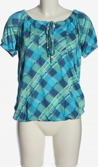 CHEER Carmenshirt in S in blau / türkis, Produktansicht