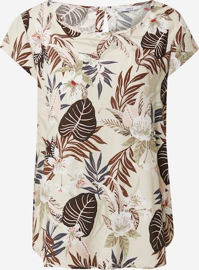 ONLY Shirt 'NOVA LIFE' in de kleur Crème / Ecru / Karamel / Wit, Productweergave