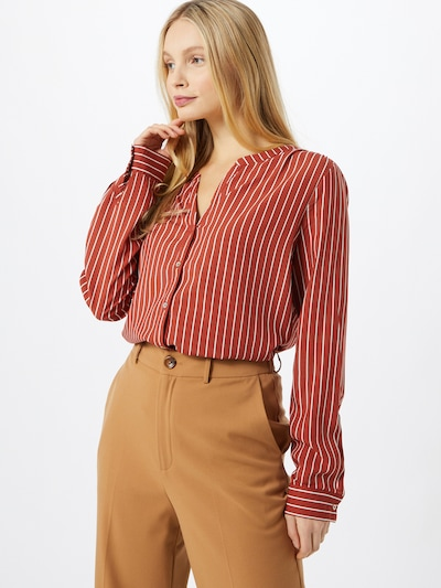 ONLY Blouse 'SUGAR' in rusty red / white, View model