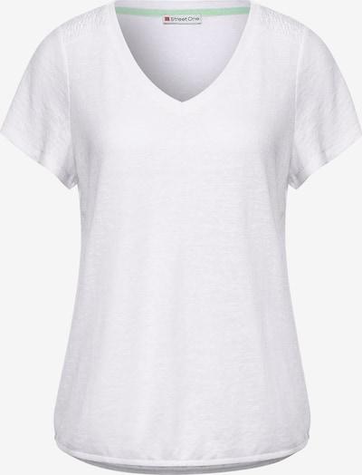 STREET ONE T-Shirt mit V-Ausschnitt in weiß, Produktansicht