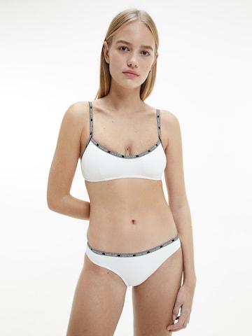 Calvin Klein Swimwear Bikinitop in Weiß