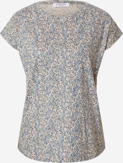 Tricou Sublevel pe bej / albastru, Vizualizare produs