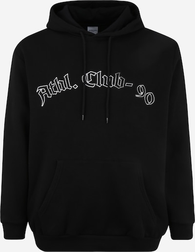 Jack & Jones Plus Mikina 'CLUB' - černá / bílá, Produkt