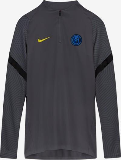 NIKE Sportsweatshirt in blau / gelb / dunkelgrau, Produktansicht