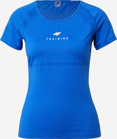 4F T-Shirt in kobaltblau / weiß, Produktansicht
