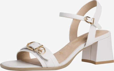 TAMARIS Sandale in gold / weiß, Produktansicht