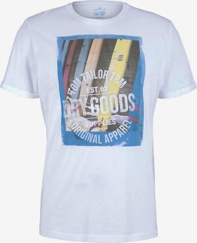 TOM TAILOR Camiseta en mezcla de colores / blanco, Vista del producto