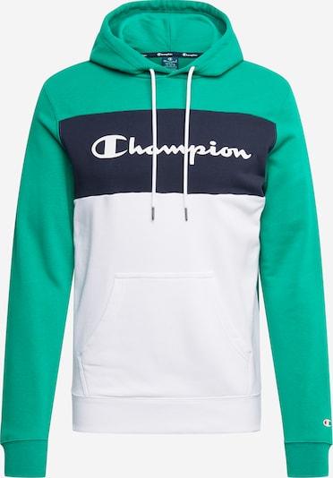 Felpa Champion Authentic Athletic Apparel di colore navy / verde / bianco, Visualizzazione prodotti