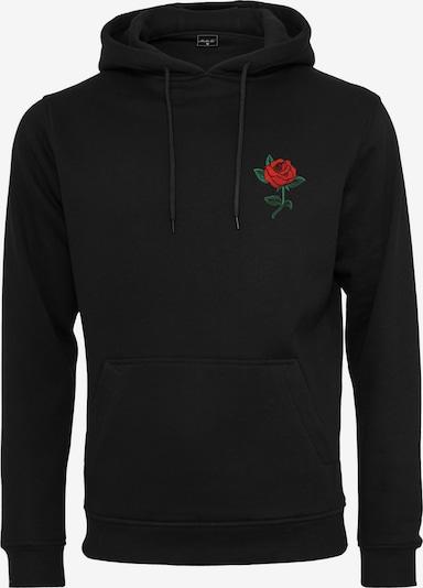 Mister Tee Sweatshirt 'Rose Hoody' in de kleur Zwart, Productweergave