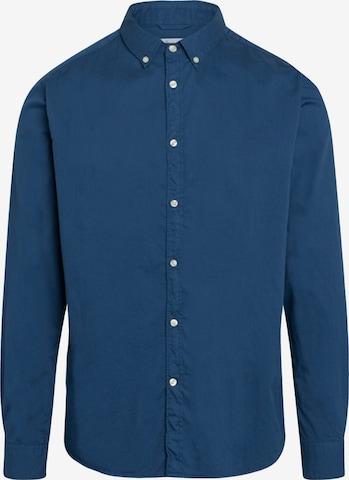 KnowledgeCotton Apparel Hemd ' LARCH ' in Blau