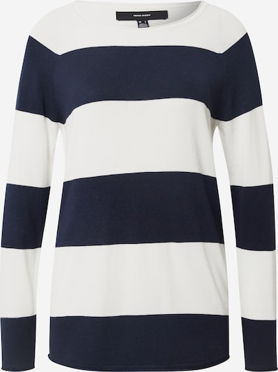 VERO MODA Pullover 'Nellie Glory' in navy / offwhite, Produktansicht