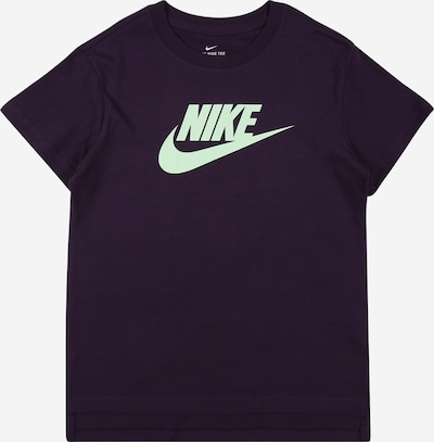 Nike Sportswear T-Shirt 'Futura' in mint / brombeer, Produktansicht