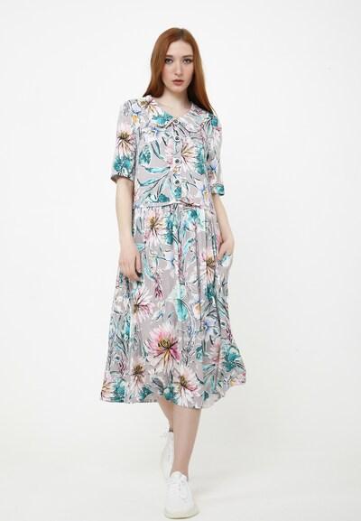 Madam-T Sommerkleid 'BELLA' in aqua / grau, Modelansicht