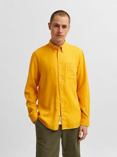 SELECTED HOMME Overhemd in de kleur Geel: Vooraanzicht
