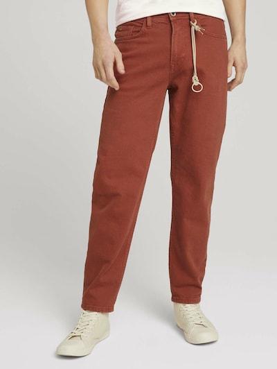 TOM TAILOR DENIM Jeans in rostbraun, Modelansicht