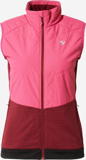 ZIENER Sportweste 'NANJA' in pink / dunkelrot / schwarz, Produktansicht