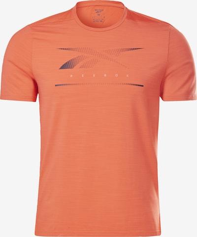 Reebok Sport T-Shirt in nachtblau / orangerot, Produktansicht