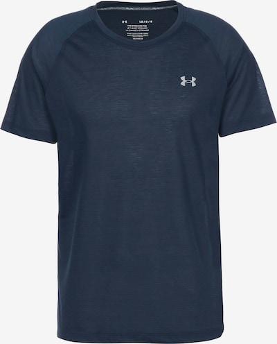 UNDER ARMOUR Functioneel shirt 'Streaker' in de kleur Navy / Donkerblauw / Wit, Productweergave