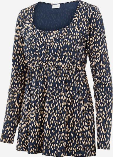 MAMALICIOUS Shirt 'Irena' in ecru / nachtblau, Produktansicht