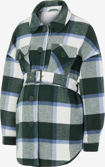 Pieces Maternity Jacke 'Selma' in blau / grau / dunkelgrün / weiß, Produktansicht