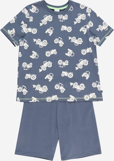 SANETTA Pajamas in Dusty blue / White, Item view