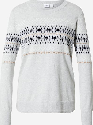 GAP Pullover 'FAIRISLE' in hellbraun / hellgrau / schwarz / weiß, Produktansicht