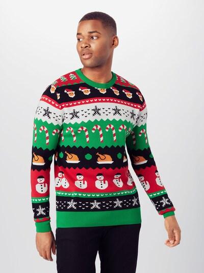 Megztinis 'Christmas' iš Kronstadt , spalva - odos / žalia / raudona / juoda / balta: Vaizdas iš priekio