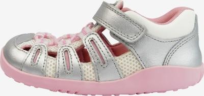 Bobux Sandalen in rosa / silber / weiß, Produktansicht