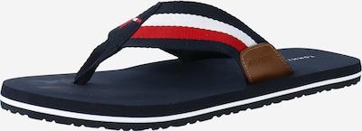 TOMMY HILFIGER Žabky - noční modrá / hnědá / červená / bílá, Produkt