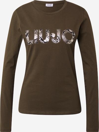 LIU JO JEANS Shirt 'MODA' in kastanienbraun / dunkelgrün / silber, Produktansicht