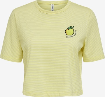ONLY Shirt 'Fruity' in Geel