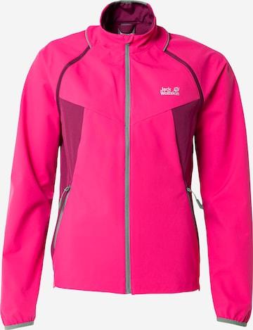 JACK WOLFSKIN Athletic Jacket 'TANDEM' in Pink