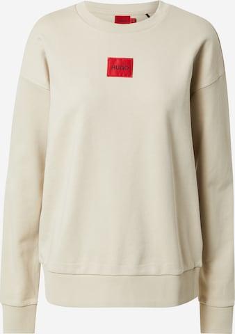 HUGO Sweatshirt 'Nakira' i beige