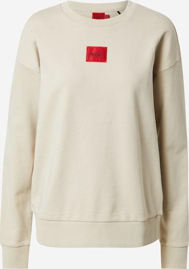 HUGO Sweat-shirt 'Nakira' en beige / rouge clair / noir, Vue avec produit