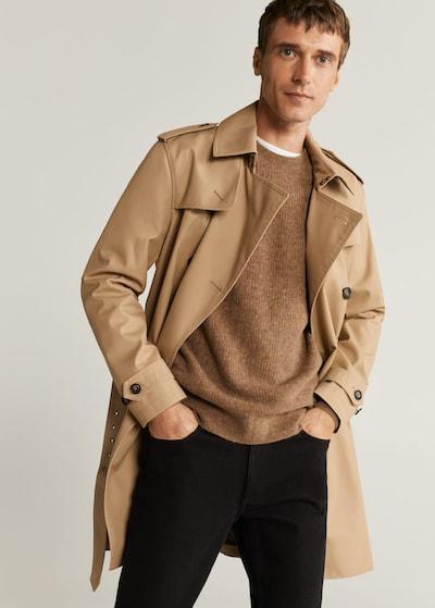 MANGO MAN Płaszcz przejściowy w kolorze jasnobrązowym, Podgląd na modelu(-ce)