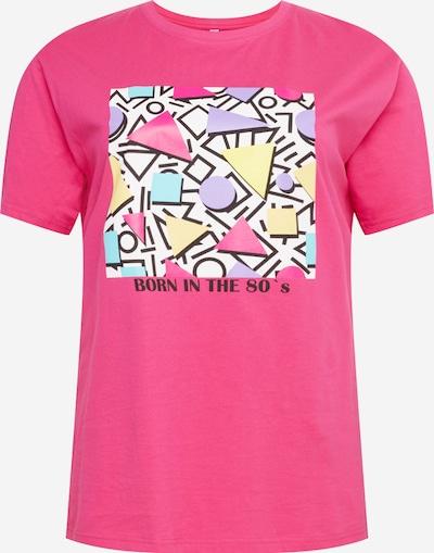 Mister Tee Curvy Shirt in de kleur Geel / Lila / Pink / Wit, Productweergave