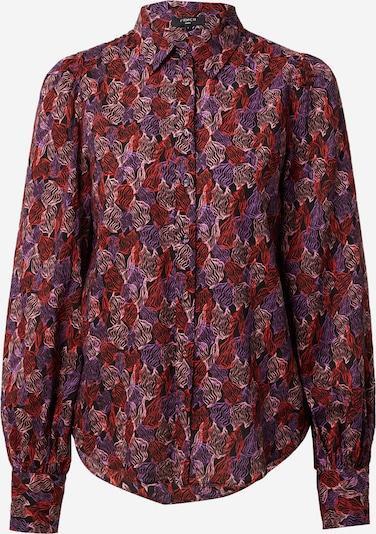 FRNCH PARIS Bluse in lila / rosa / rot / schwarz, Produktansicht