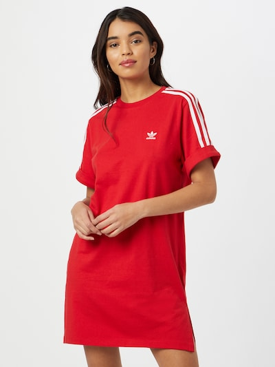 ADIDAS ORIGINALS Kleid in rot / weiß, Modelansicht