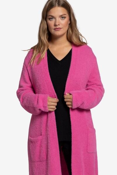 Ulla Popken Strickjacke in pink, Modelansicht