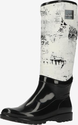 Living Kitzbühel Bottes en caoutchouc en noir / blanc, Vue avec produit