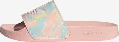 ADIDAS ORIGINALS Pantolette in hellblau / hellgelb / koralle / rosa, Produktansicht