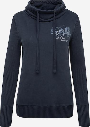 Soccx Pullover im Materialmix mit Artwork in dunkelblau, Produktansicht