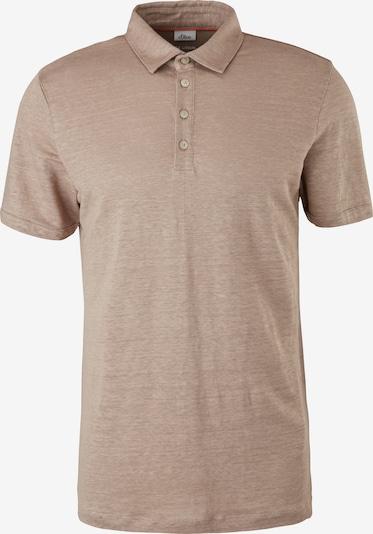 s.Oliver BLACK LABEL Poloshirt in beige, Produktansicht