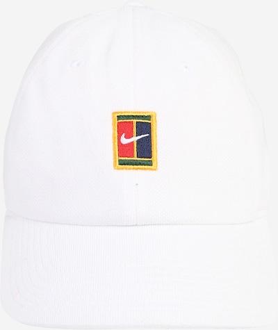 NIKE Casquette de sport 'Court Heritage86' en bleu marine / jaune d'or / vert / rouge / blanc, Vue avec produit